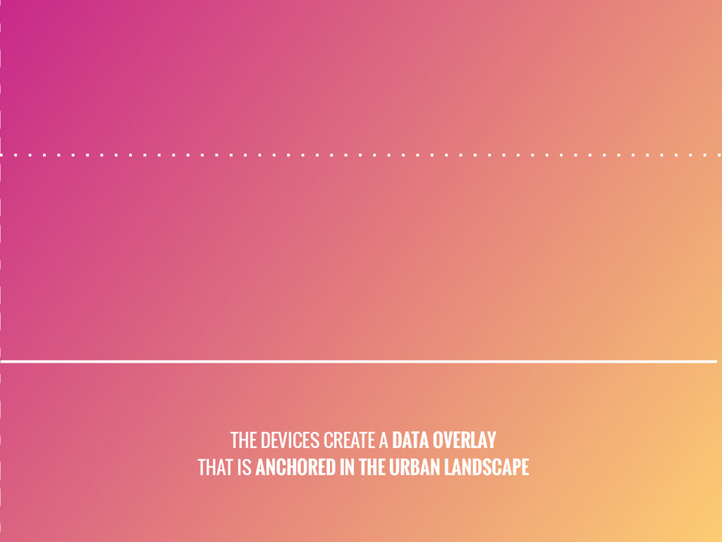 THE DEVICES CREATE A DATA OVERLAY THAT IS ANCHO...