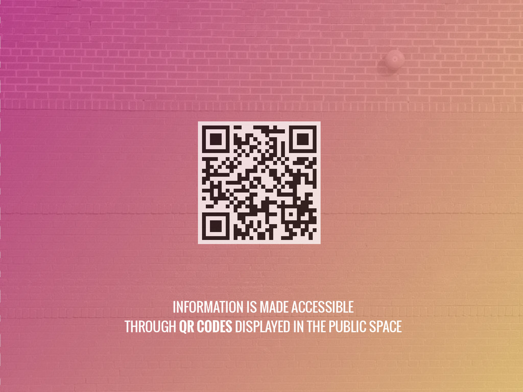 INFORMATION IS MADE ACCESSIBLE THROUGH QR CODES...