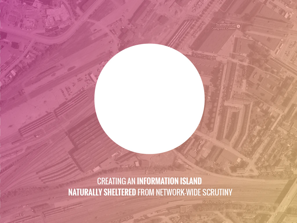 CREATING AN INFORMATION ISLAND NATURALLY SHELTE...