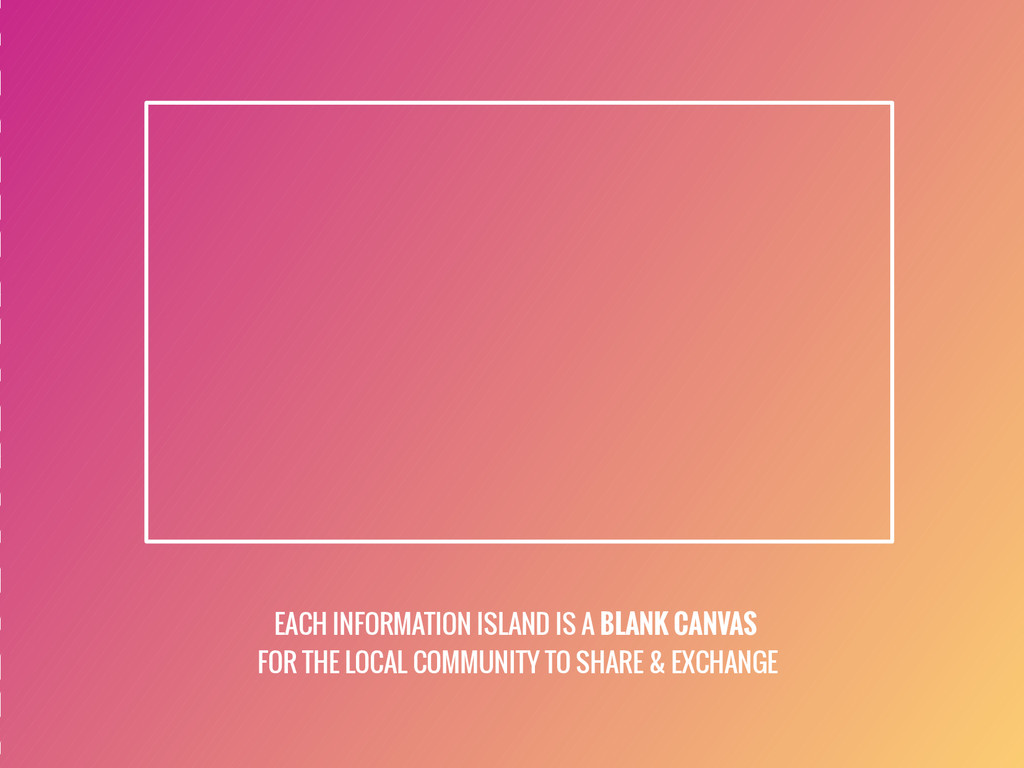 EACH INFORMATION ISLAND IS A BLANK CANVAS FOR T...