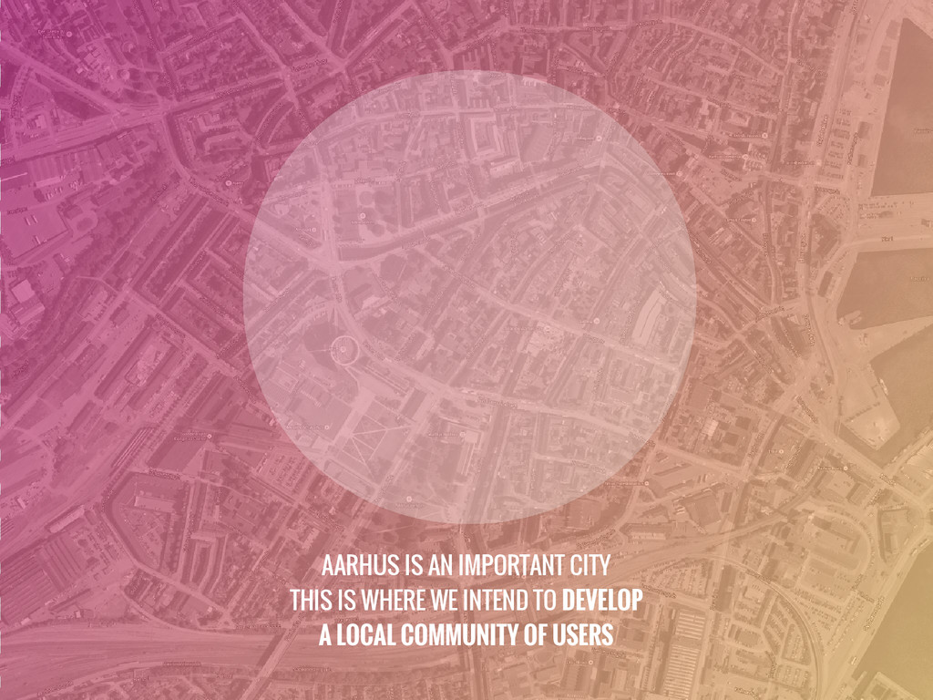 AARHUS IS AN IMPORTANT CITY THIS IS WHERE WE IN...