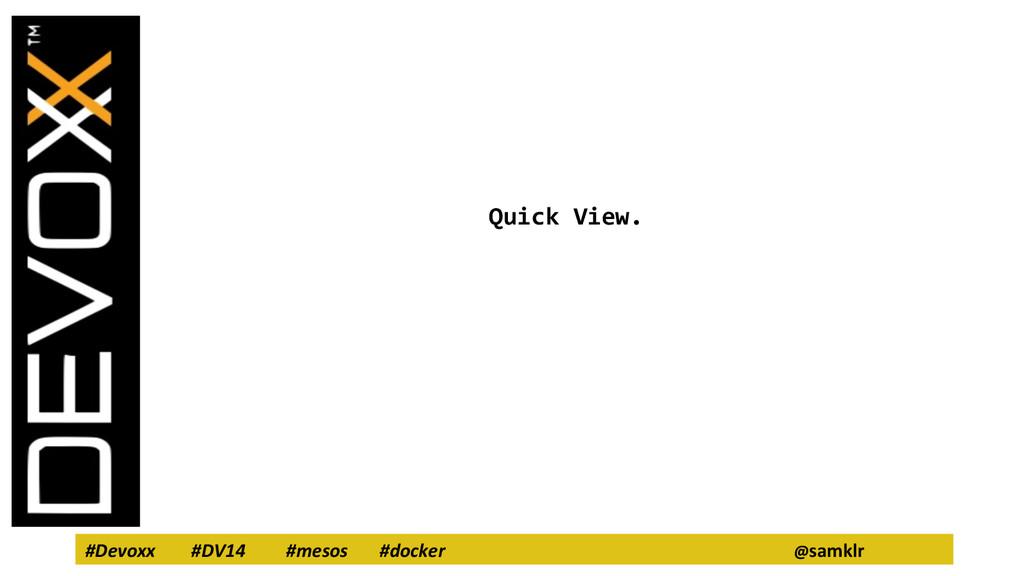 #Devoxx #DV14 #mesos #docker @samklr Quick View.
