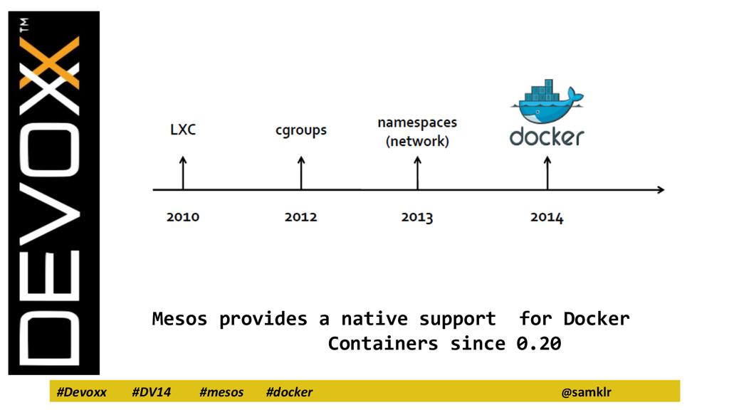 #Devoxx #DV14 #mesos #docker @samklr Mesos prov...