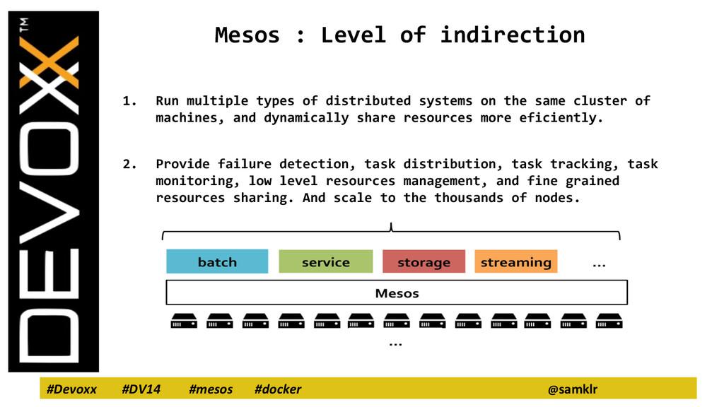 #Devoxx #DV14 #mesos #docker @samklr Mesos : Le...