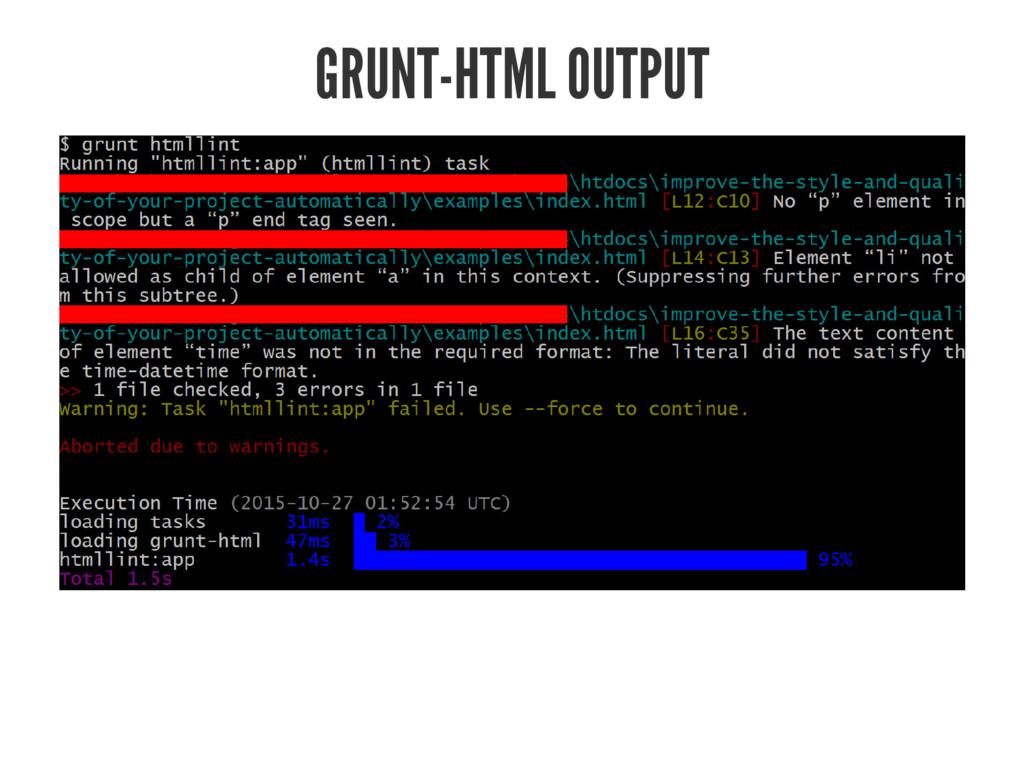 GRUNT-HTML OUTPUT