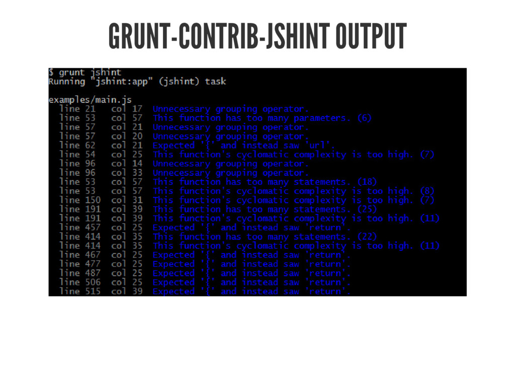 GRUNT-CONTRIB-JSHINT OUTPUT