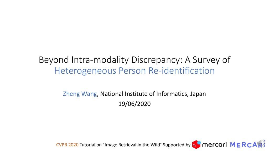Beyond Intra-modality Discrepancy: A Survey of ...