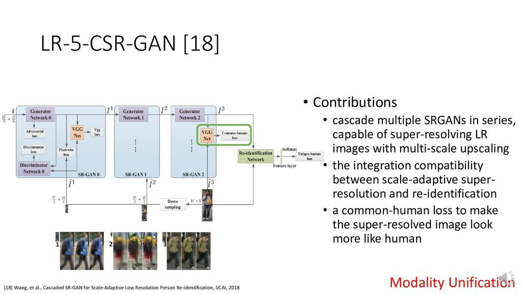 LR-5-CSR-GAN [18] [18] Wang, et al., Cascaded S...