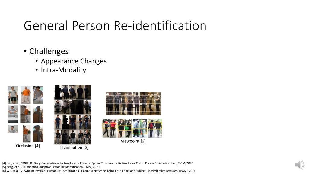 General Person Re-identification [4] Luo, et al...