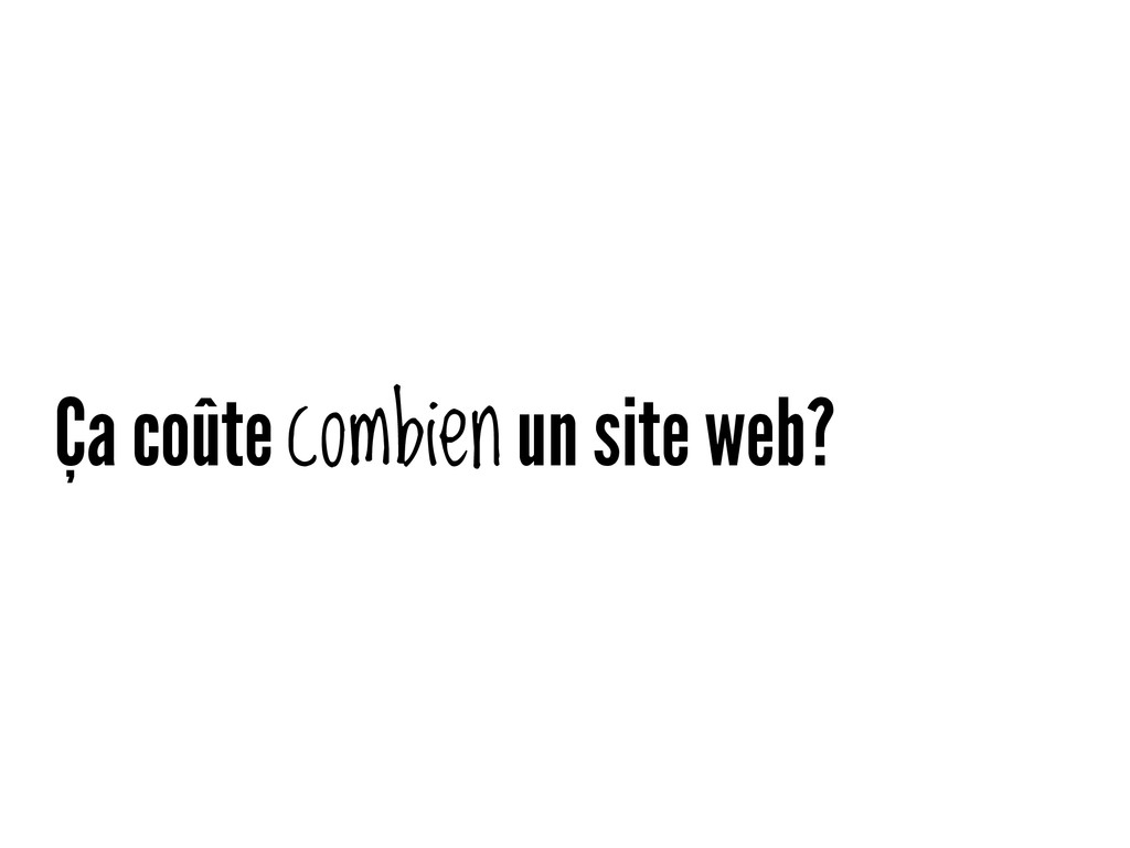 Ça coûte combien un site web?