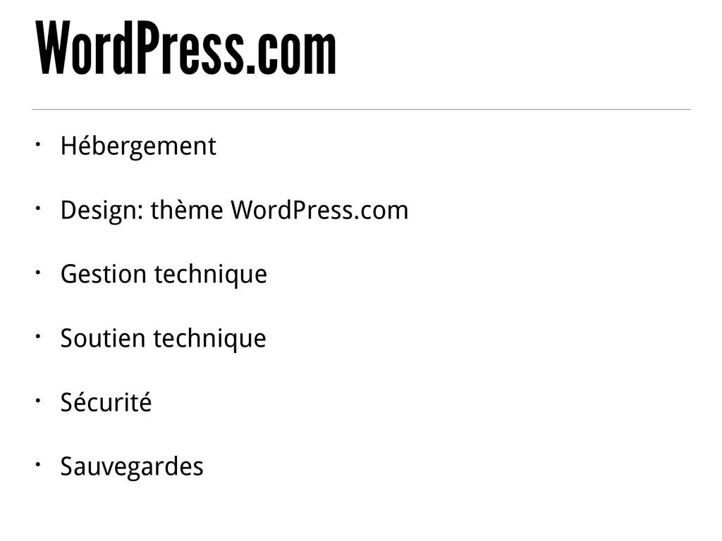 WordPress.com • Hébergement • Design: thème Wor...