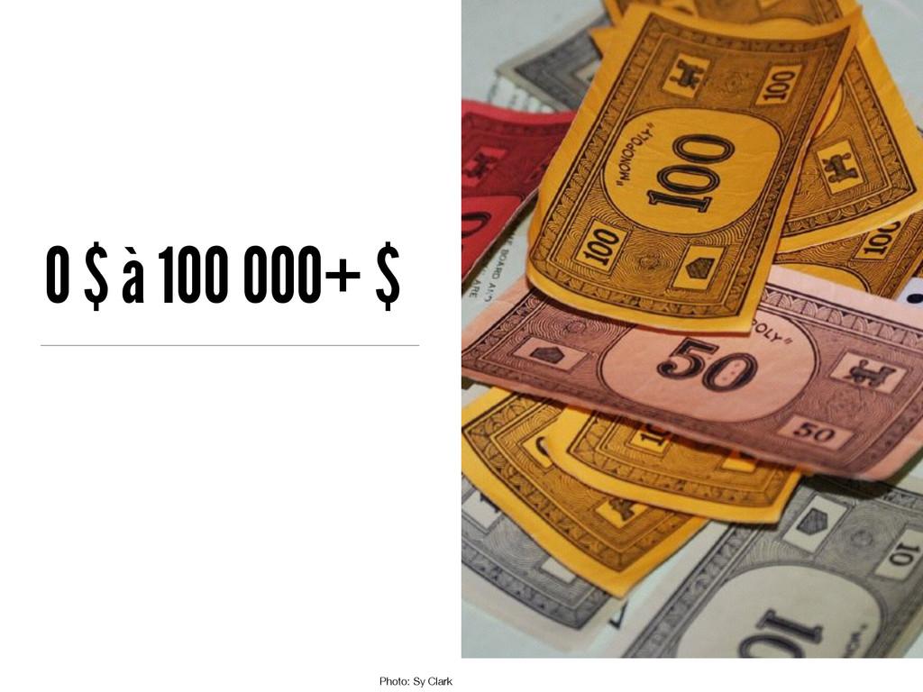 0 $ à 100 000+ $ Photo: Sy Clark