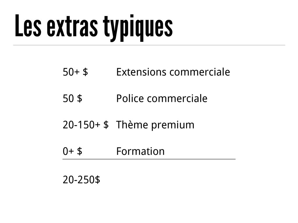 50+ $ Extensions commerciale 50 $ Police commer...