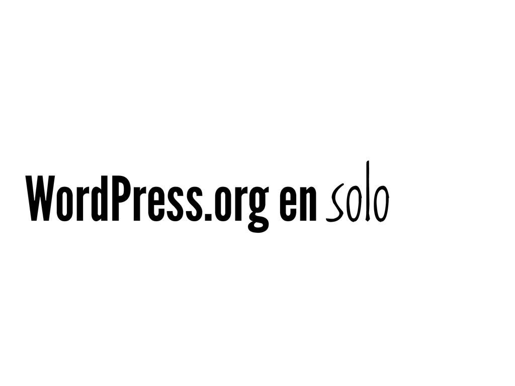 WordPress.org en solo
