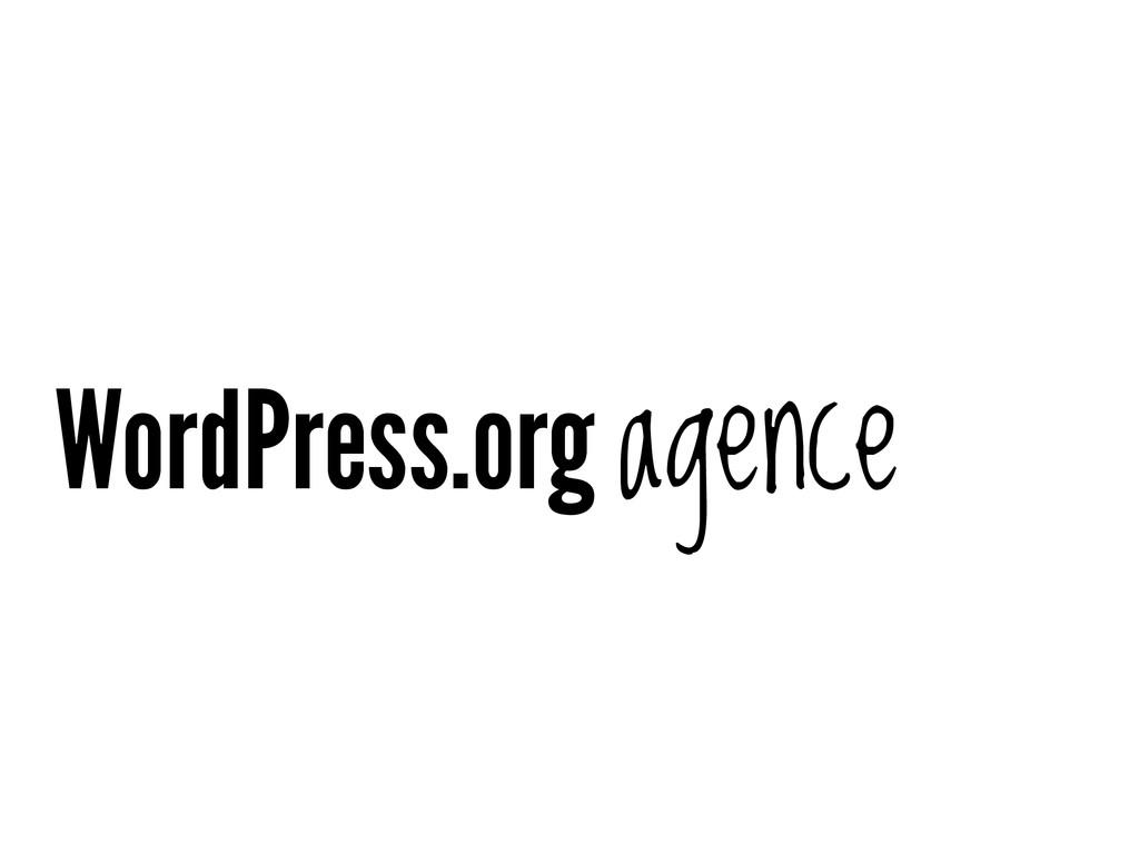 WordPress.org agence