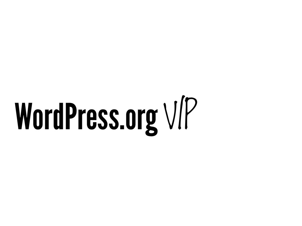 WordPress.org VIP