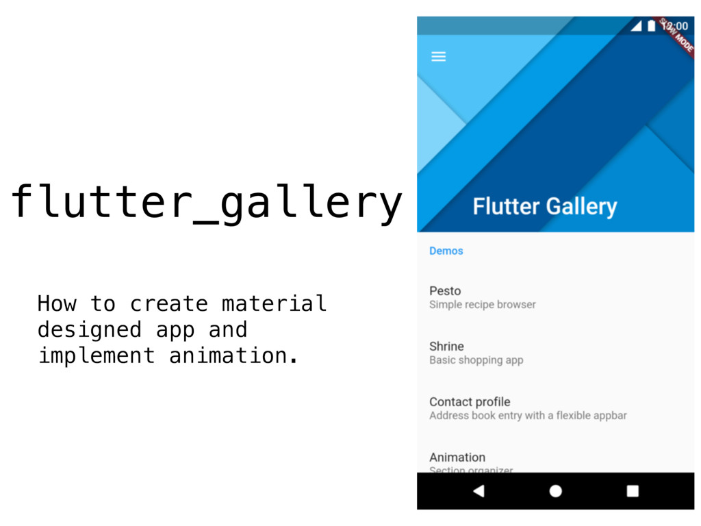 flutter_gallery How to create material designed...