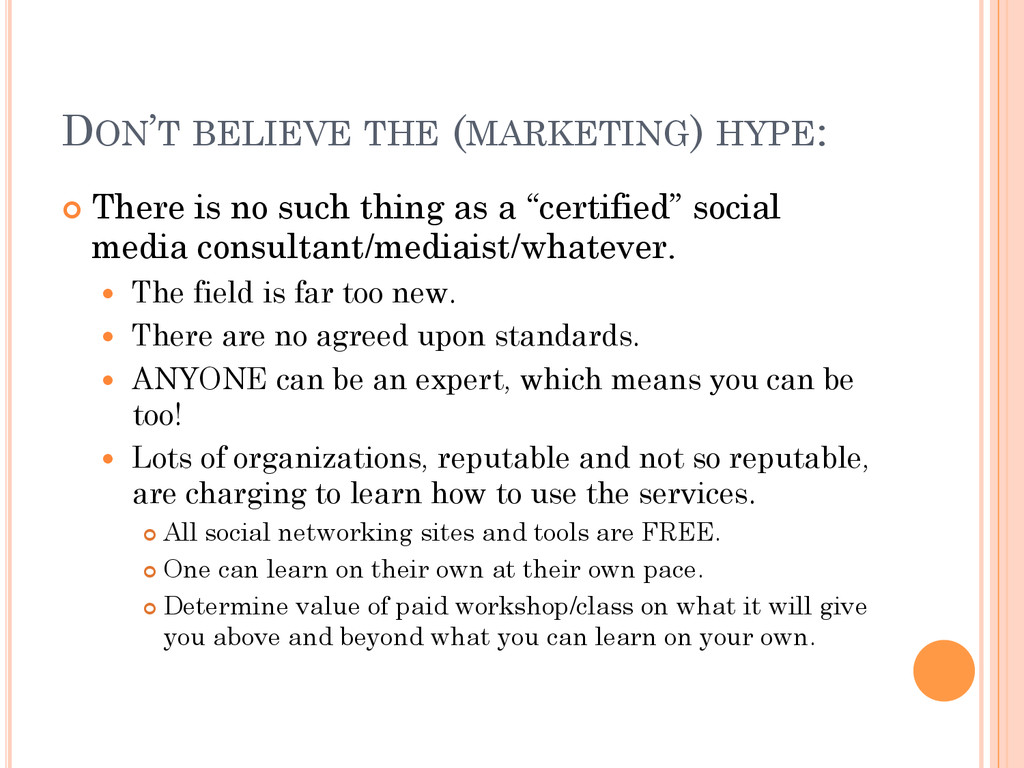 DON'T BELIEVE THE (MARKETING) HYPE: ¢ There i...