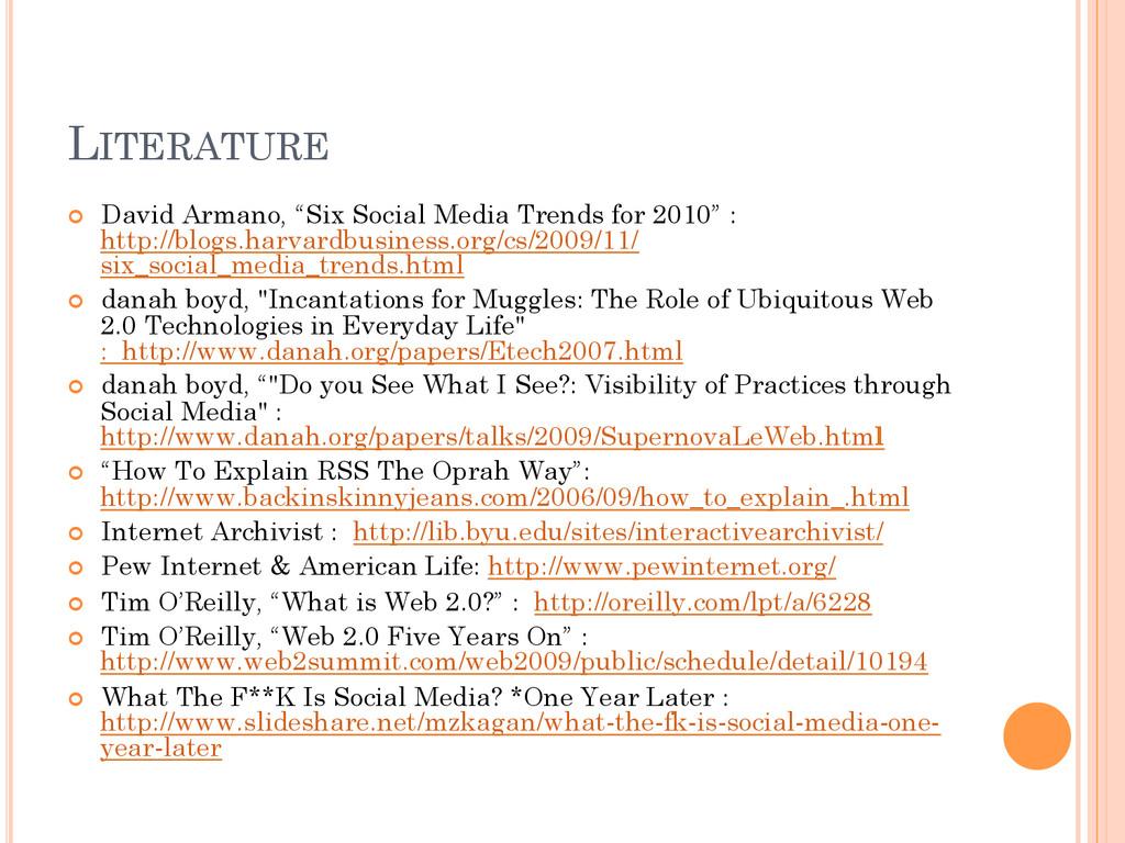 """LITERATURE ¢ David Armano, """"Six Social Media ..."""