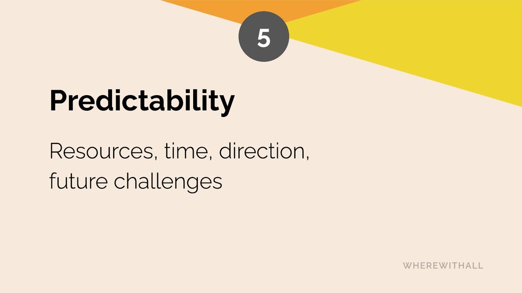 Predictability 5