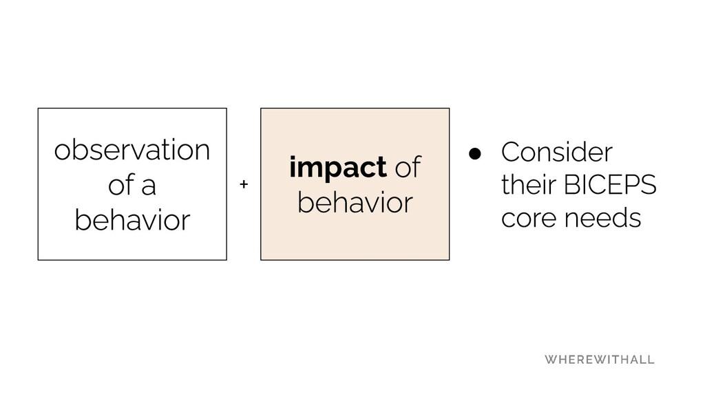 impact + ●