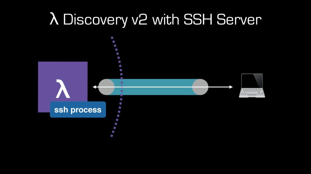 λ Discovery v2 with SSH Server λ ssh process