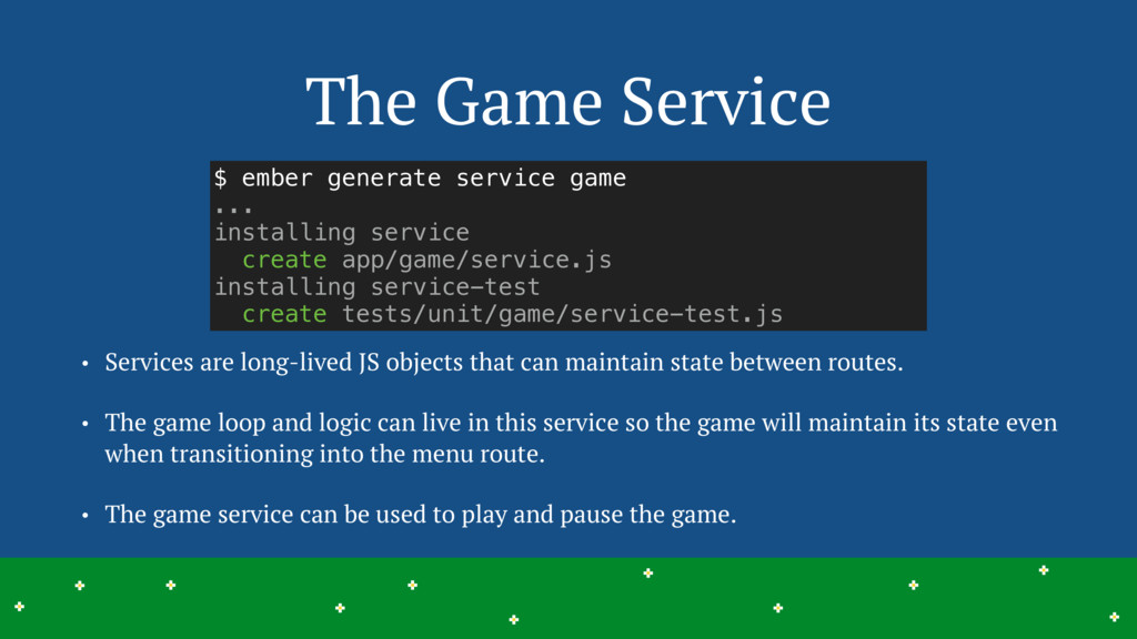 The Game Service 18 > > > > > > > > > > > > > >...