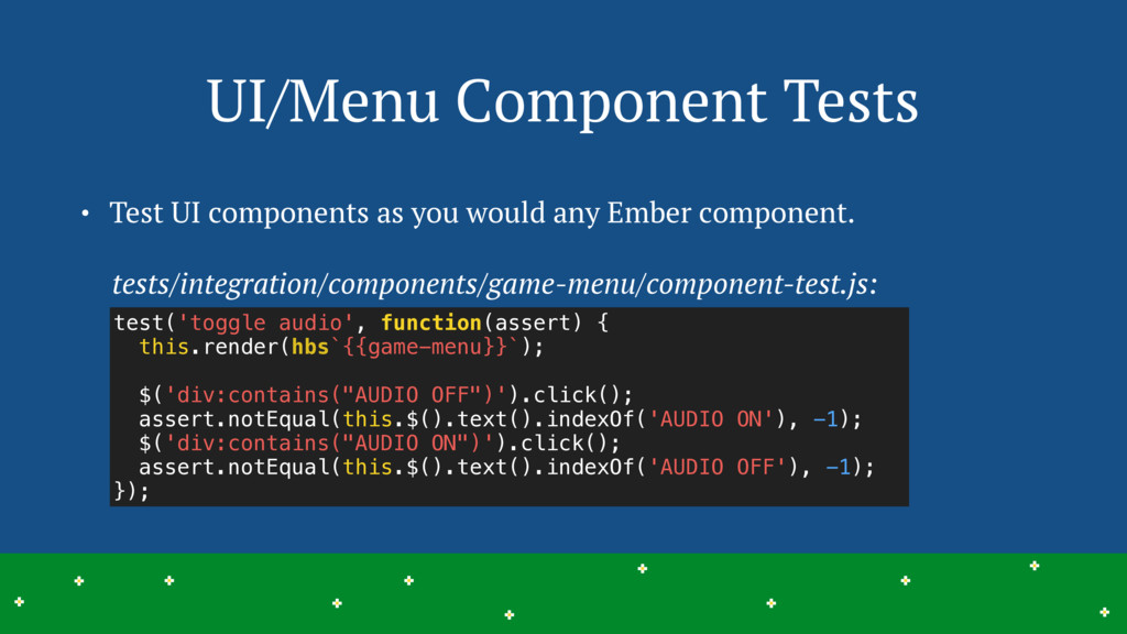 UI/Menu Component Tests 22 > > > > > > > > > > ...