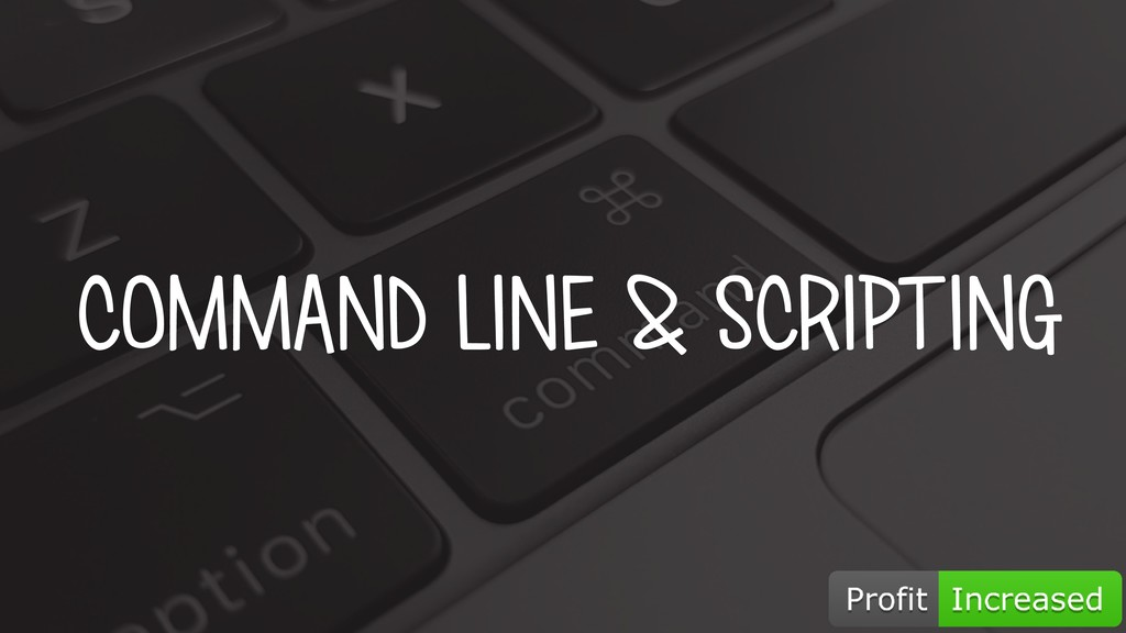 COMMAND LINE & SCRIPTING