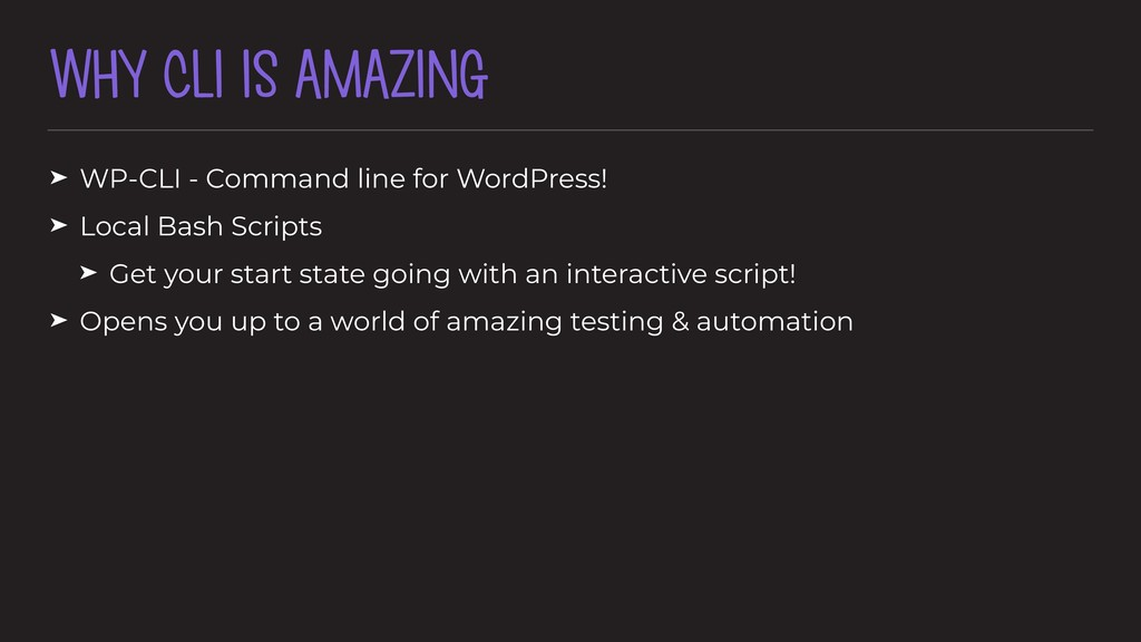 WHY CLI IS AMAZING ➤ WP-CLI - Command line for ...