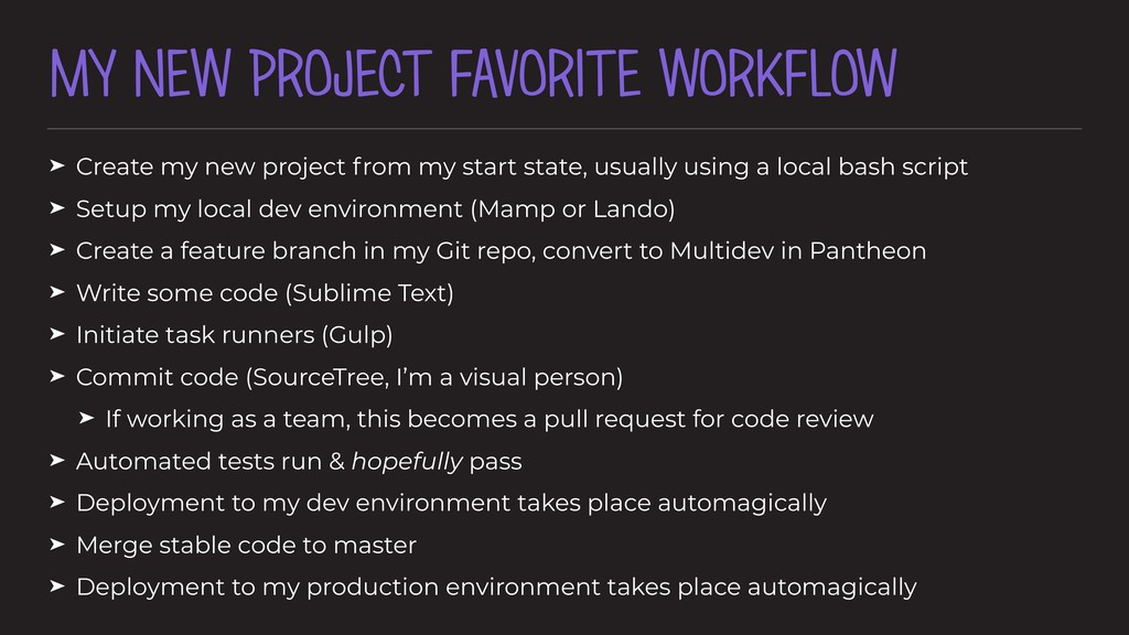 MY NEW PROJECT FAVORITE WORKFLOW ➤ Create my ne...