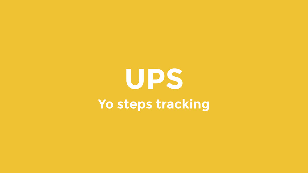 UPS Yo steps tracking