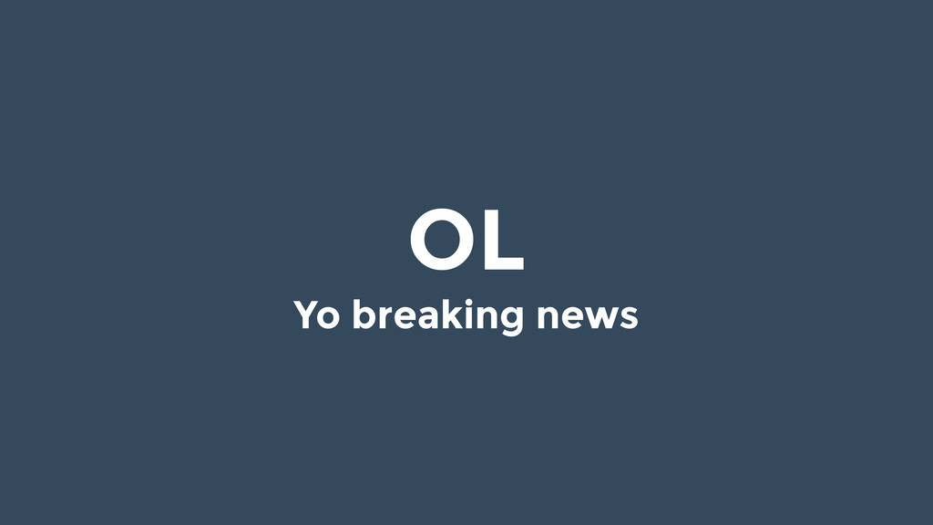 OL Yo breaking news