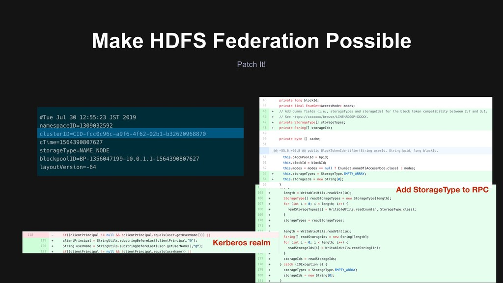 Patch It! Make HDFS Federation Possible Add Sto...