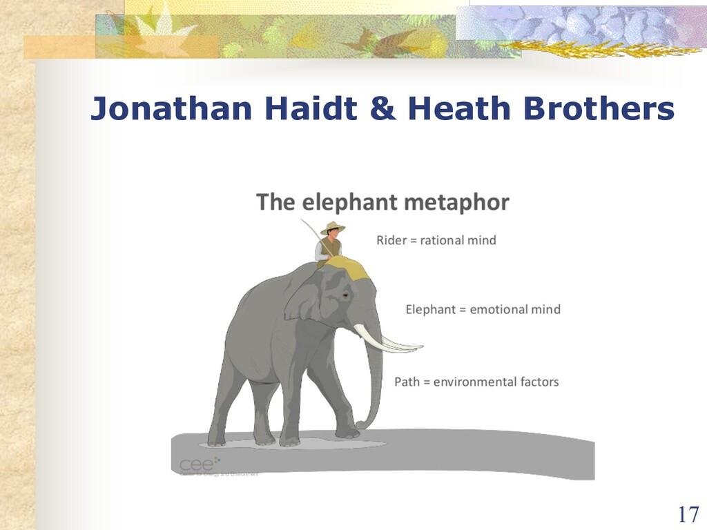 Jonathan Haidt & Heath Brothers 17