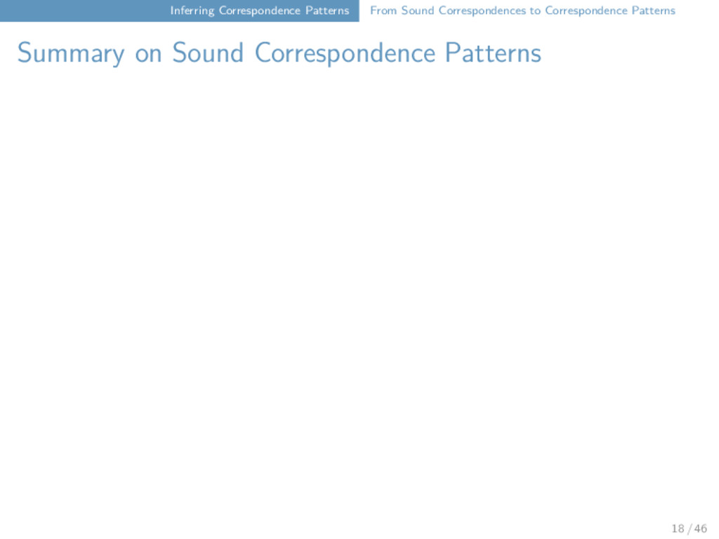 Inferring Correspondence Patterns From Sound Co...