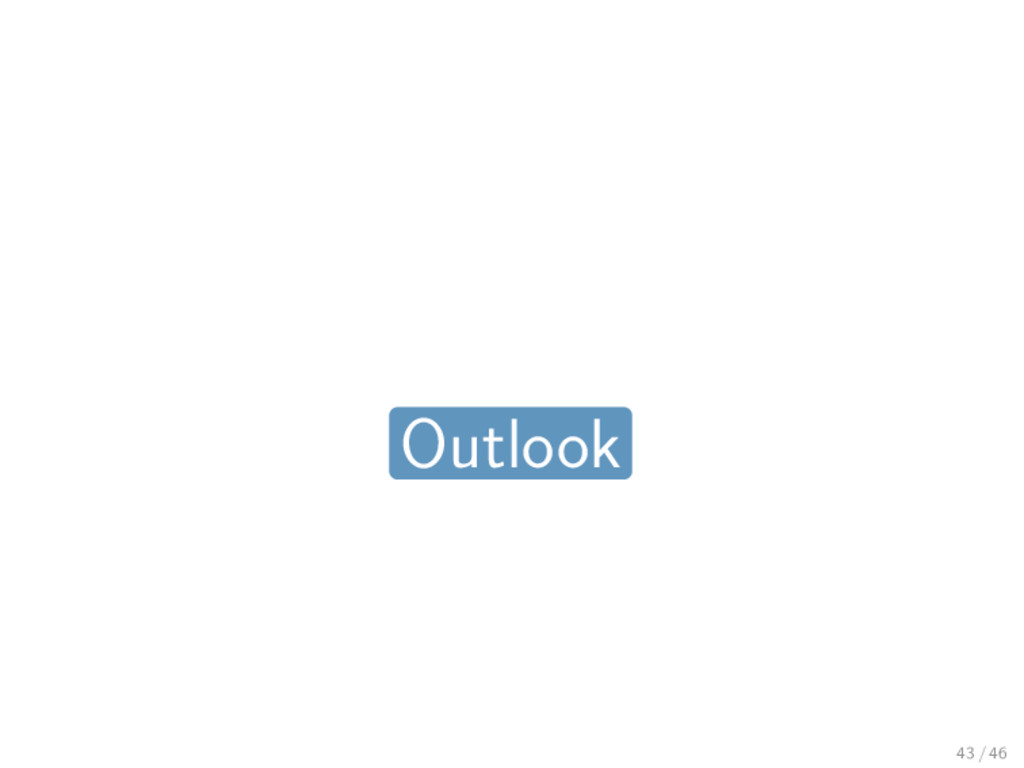Outlook 43 / 46