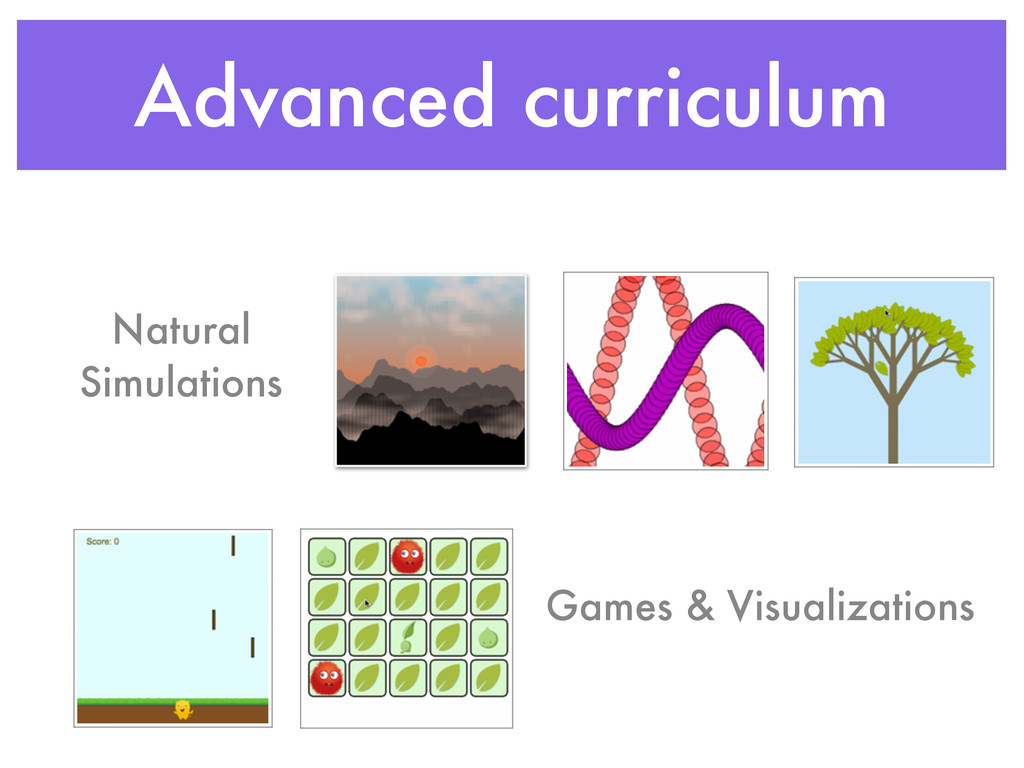 Advanced curriculum Natural Simulations Games &...