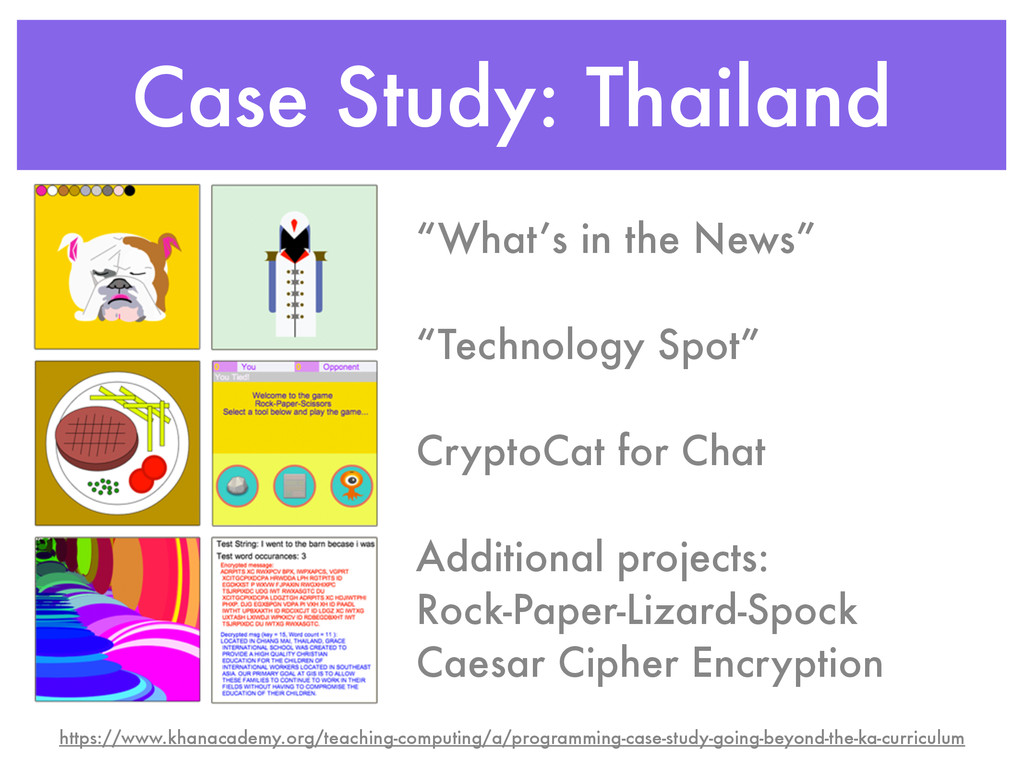 "Case Study: Thailand ""What's in the News"" ! ""Te..."