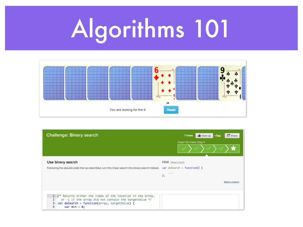 Algorithms 101