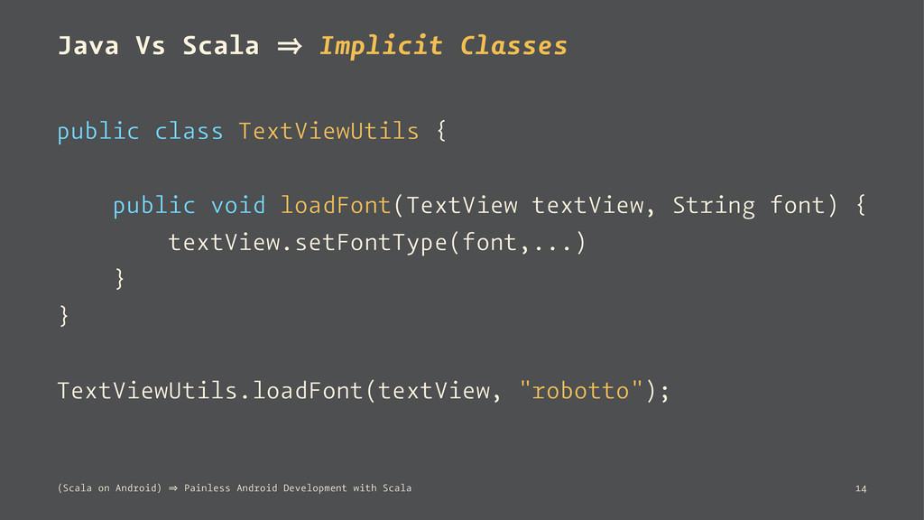 Java Vs Scala 㱺 Implicit Classes public class T...