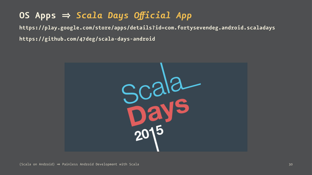 OS Apps 㱺 Scala Days Official App https://play....