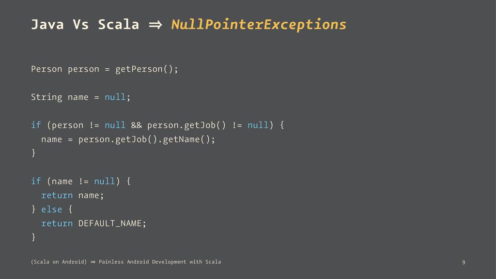 Java Vs Scala 㱺 NullPointerExceptions Person pe...