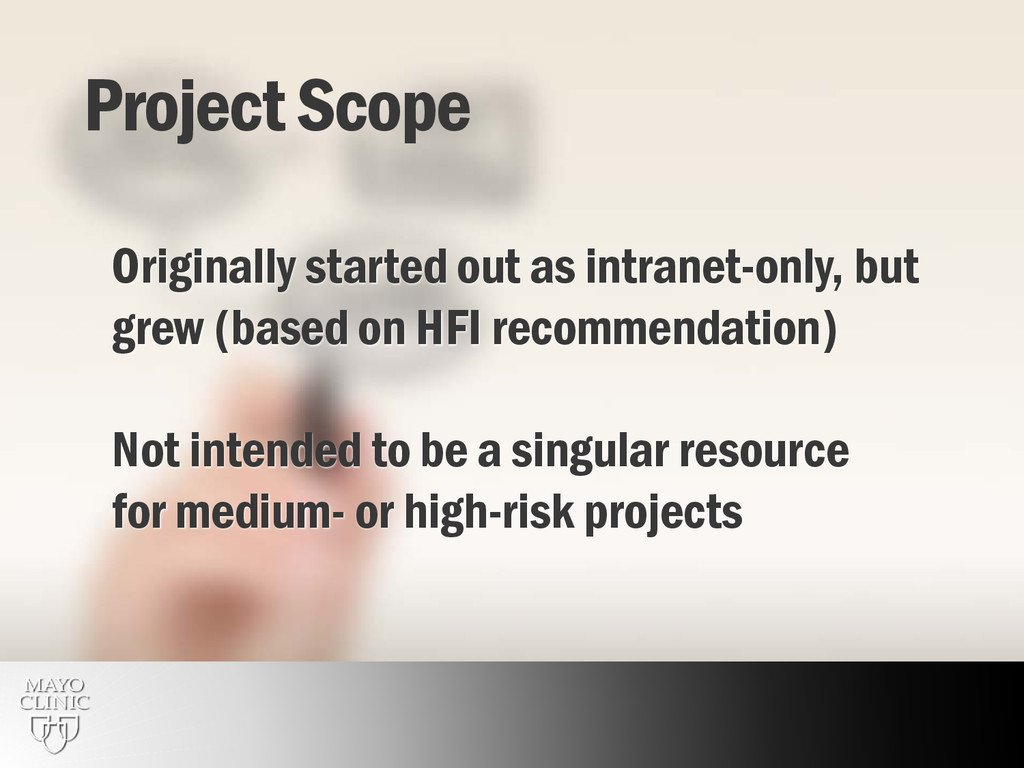 16 Project Scope Originally started out as intr...