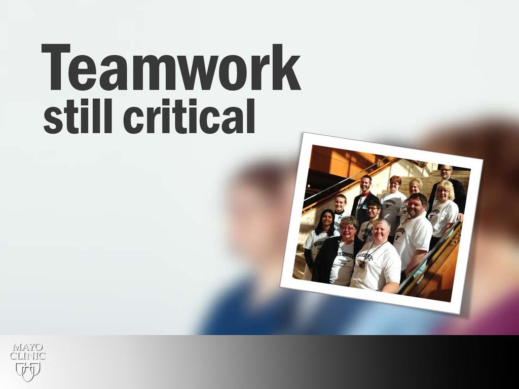 28 Teamwork still critical