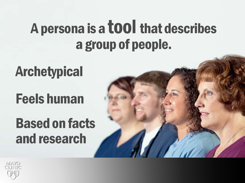 9 A persona is a tool that describes a group of...
