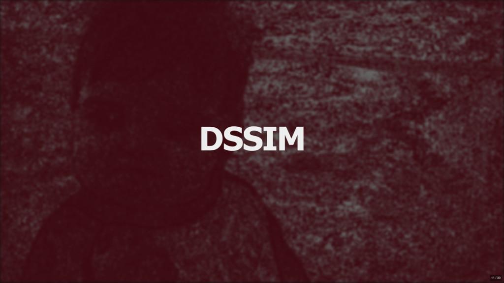 DSSIM 11 / 33