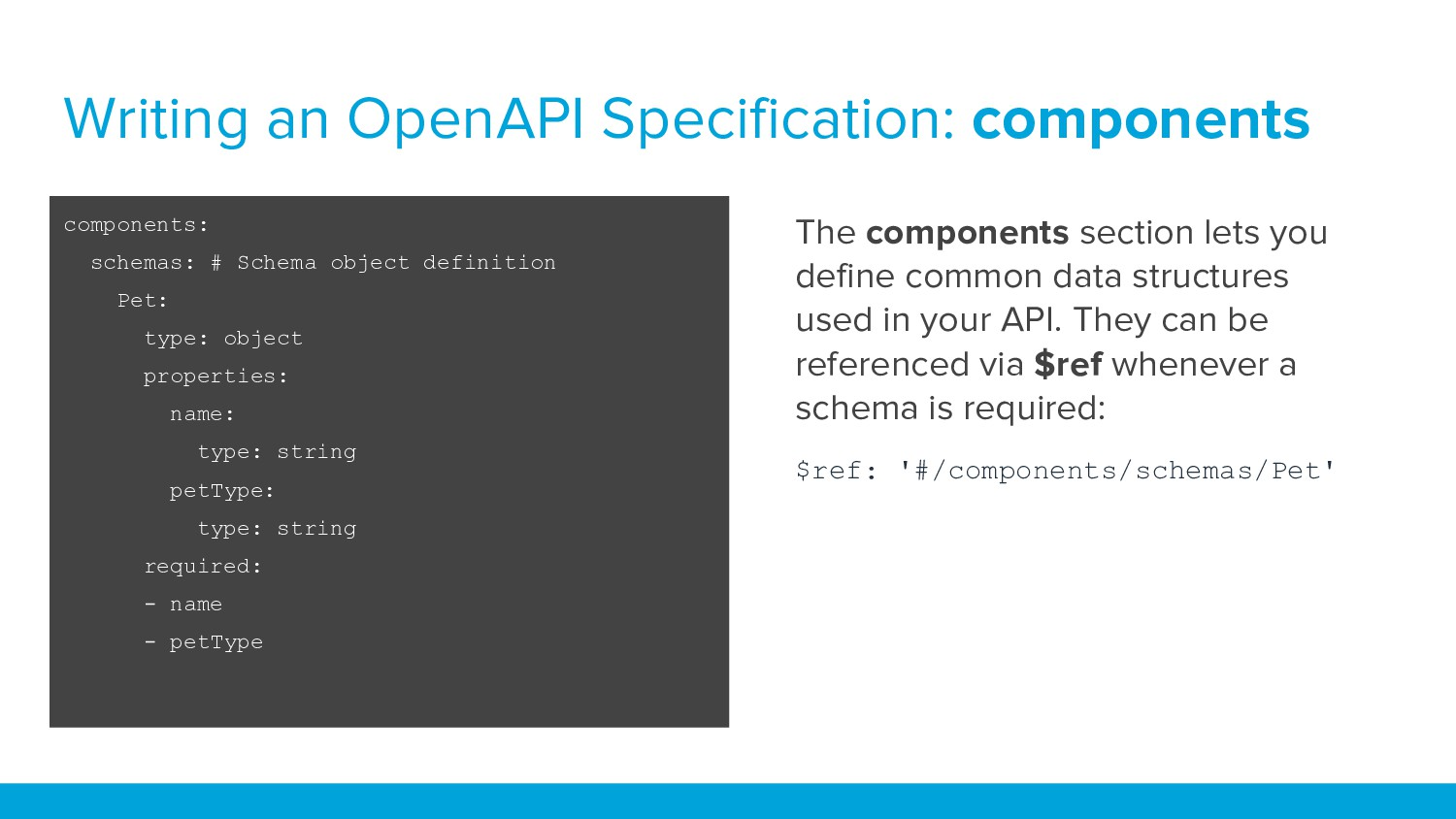 Writing an OpenAPI Specification: components co...
