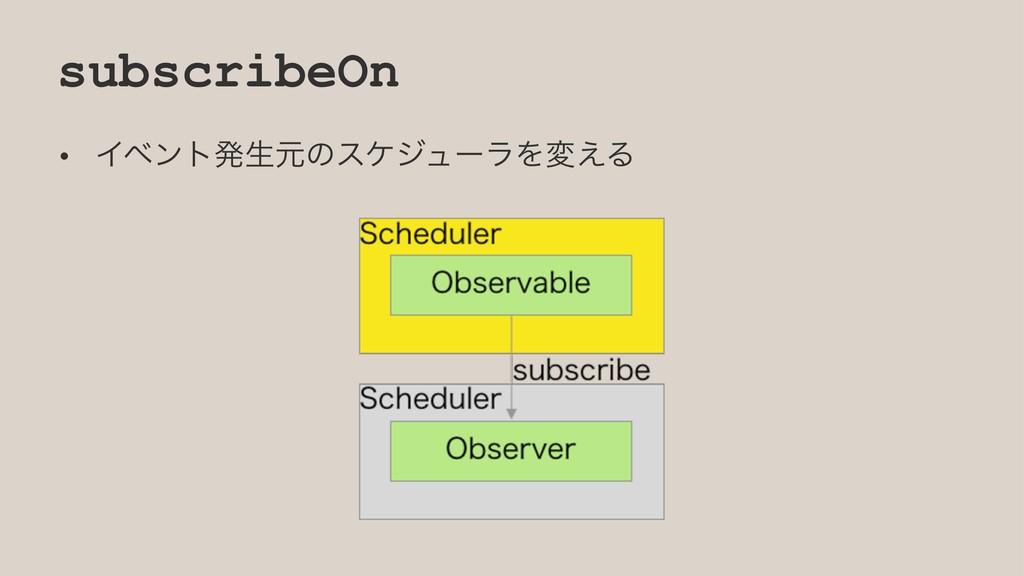 subscribeOn • ΠϕϯτൃੜݩͷεέδϡʔϥΛม͑Δ