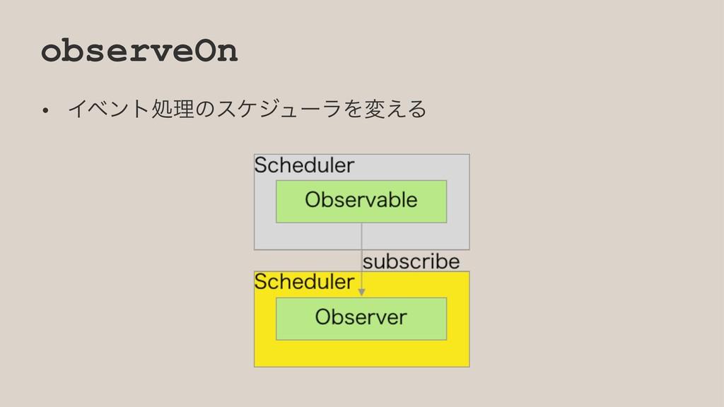 observeOn • ΠϕϯτॲཧͷεέδϡʔϥΛม͑Δ